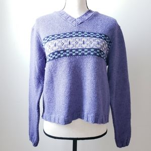 VINTAGE Northern Reflections Cropped Sweater